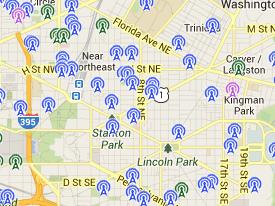 Wifi hotspot map