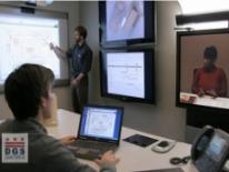 Person using video conferencing